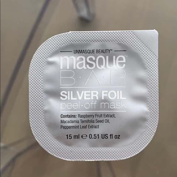masque bar Other - Masque Bar Silver Foil Peel Off Mask New
